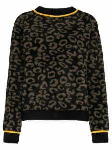 Sweaty Betty Islington leopard jacquard knitted sweater - Brown