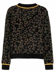 Sweaty Betty Islington leopard jacquard knitted sweater - Brown