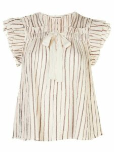 Ulla Johnson Bria striped print blouse - White