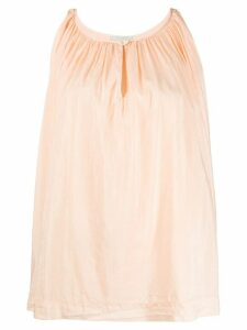 Forte Forte pleated front buttoned top - NEUTRALS