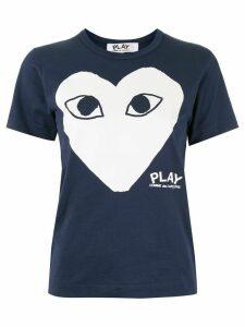 Comme Des Garçons Play logo-print T-shirt - Blue