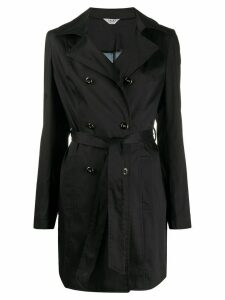 LIU JO double-breasted belted trench - Black