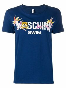 Moschino swim print T-shirt - Blue