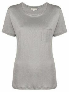 Gold Hawk round neck linen T-shirt - Grey