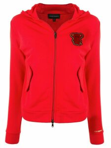 Emporio Armani bear patch hoodie - Red