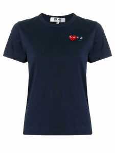Comme Des Garçons Play logo embroidered crew neck T-shirt - Blue