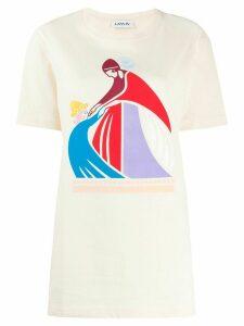 LANVIN Mother and Child-print T-shirt - NEUTRALS