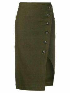 Pinko side slit skirt - Green