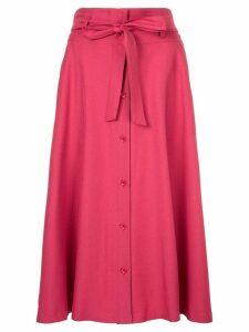 Guild Prime tie waist midi skirt - PINK