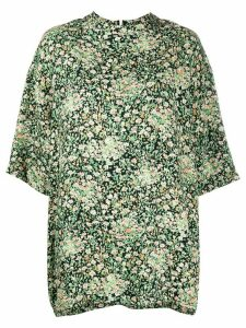 Nº21 3/4 sleeves floral print top - Green