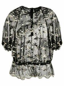 Simone Rocha floral blouse - Black