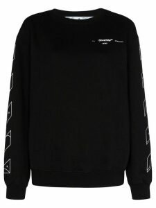 Off-White logo-print sweatshirt - Black