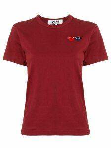 Comme Des Garçons Play logo embroidered crew neck T-shirt