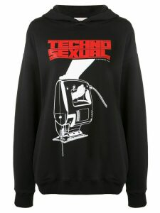 Christopher Kane Techno Sexual hoodie - Black