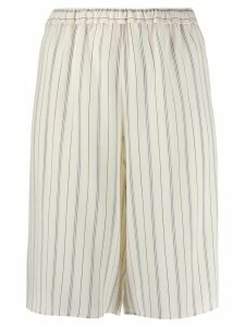 Chloé striped knee-length shorts - NEUTRALS