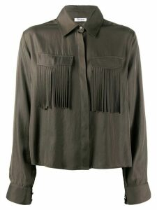 P.A.R.O.S.H. Tilt fringed shirt - Green