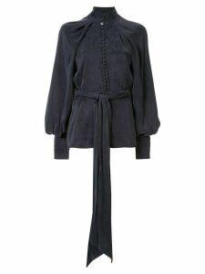 Acler Portland balloon-sleeve blouse - Blue