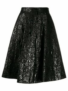 Nº21 textured flared skirt - Black