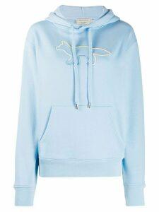 Maison Kitsuné logo print hoodie - Blue