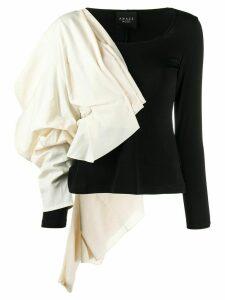 A.W.A.K.E. Mode draped asymmetric top - Black