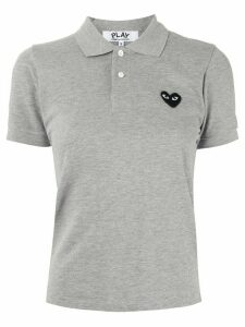 Comme Des Garçons Play logo embroidered polo shirt - Grey