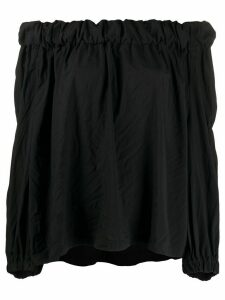 Comme Des Garçons Comme Des Garçons off-the-shoulder plain blouse -