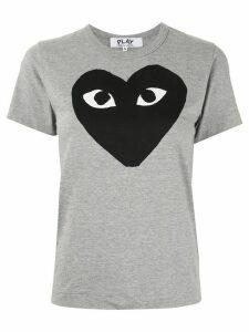 Comme Des Garçons Play logo-print T-shirt - Grey