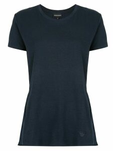 Emporio Armani flared knitted top - Blue