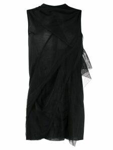 Rick Owens Lilies symmetric tulle tank top - Black