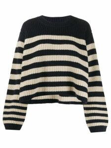 Khaite oversized striped jumper - Blue
