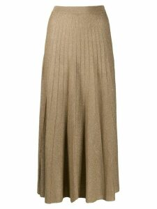 Joseph high-waisted pleated skirt - GOLD