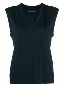 Zadig & Voltaire v-neck tank top - Blue