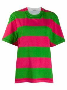 Stella McCartney oversized striped T-shirt - PINK