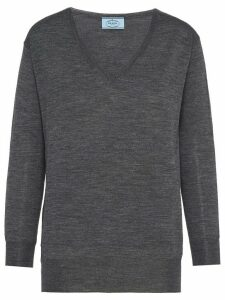 Prada V-neck jumper - Grey