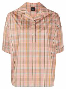 Aspesi short sleeve plaid shirt - PINK