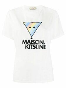 Maison Kitsuné logo print T-shirt - White