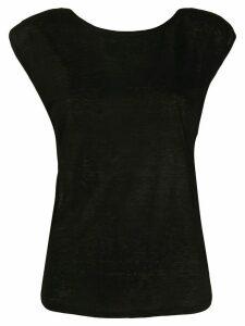 Forte Forte sleeveless fitted T-shirt - Black