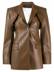 Peter Do two piece leather look jacket - Brown