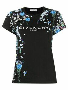 Givenchy floral-print logo T-shirt - Black