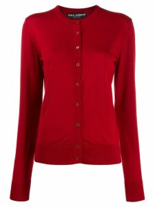 Dolce & Gabbana ribbed crewneck cardigan - Red