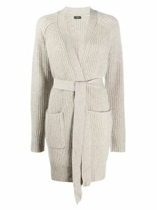 Joseph long tie-waist cardigan - Grey