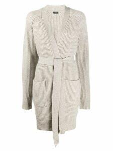 Joseph long tie-waist cardigan - Grey
