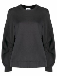 GANNI oversized organic cotton sweatshirt - Blue