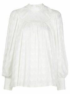 Zimmermann long sleeve blouse - White