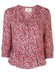 Ba & Sh floral three-quarter sleeve top - Red