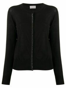 Moncler studded round neck cardigan - Black