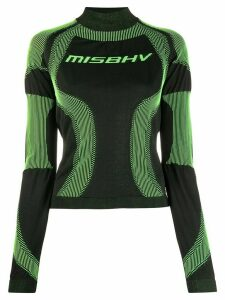 MISBHV logo knitted top - Green