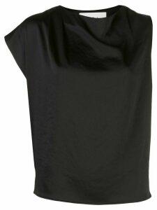 Ba & Sh asymmetrical sleeveless blouse - Black