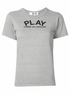 Comme Des Garçons Play logo print relaxed fit T-shirt - Grey