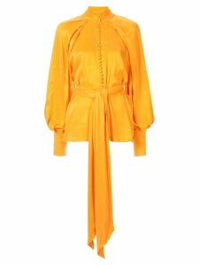 Acler Portland balloon-sleeve blouse - ORANGE